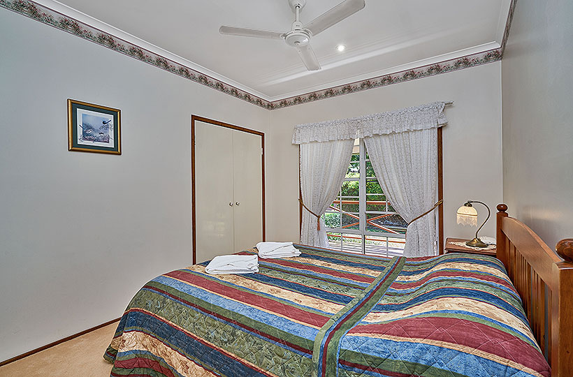 Bedroom 2 has a Queen sized bed. All beds have quality linen and mattresses.